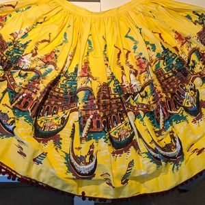 Printed Folk Skirt by Pinup Couture